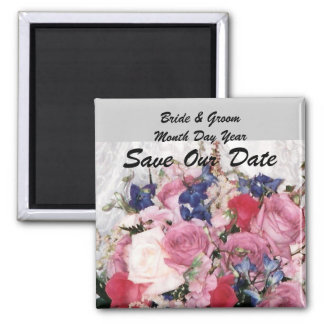 Wedding Bouquet Save The Date Magnet