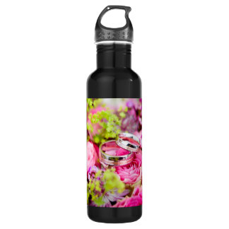 Wedding Bouquet with Wedding Ring Bands 710 Ml Water Bottle