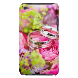 Wedding Bouquet with Wedding Ring Bands Barely There iPod Covers