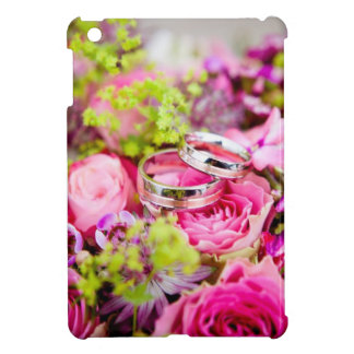 Wedding Bouquet with Wedding Ring Bands iPad Mini Cover
