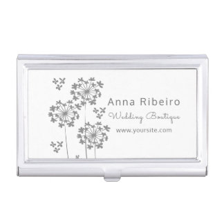 Wedding Boutique  Hydrangea Floral Minimalist Mode Business Card Holder