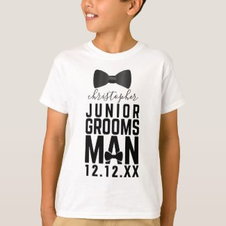 Wedding Bow Tie Junior Groomsman T-Shirt