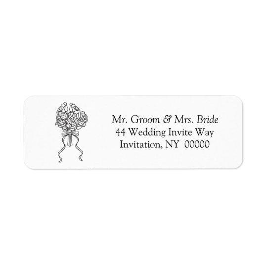 Wedding Bridal Bouquet Return Address Label