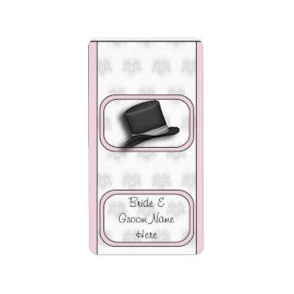 Wedding Bridal Hershey Mini Candy Wrapper Labels
