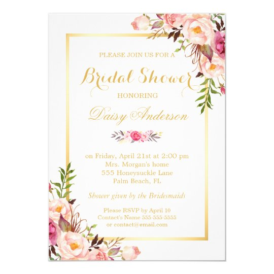 Invitation Party Wedding Free Vector Graphic On Pixabay: Wedding Bridal Shower Chic Floral Golden Frame Card