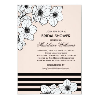 Wedding Bridal Shower Invitation | Anemone Flowers Custom Invite