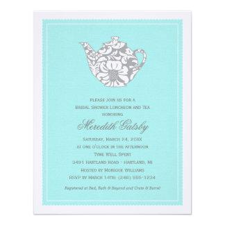 Wedding Bridal Shower Invitation High Tea Theme Personalized Invitations