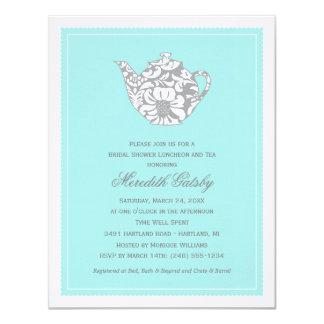 "Wedding Bridal Shower Invitation | High Tea Theme 4.25"" X 5.5"" Invitation Card"