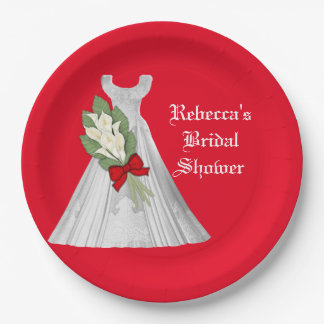 Wedding Bridal Shower paper plate