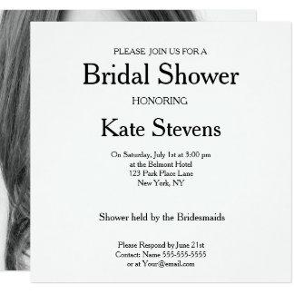 Wedding Bridal Shower Plain Invitation Photo Card