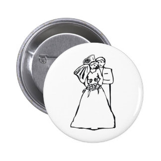 Wedding Bride 39 Pinback Button
