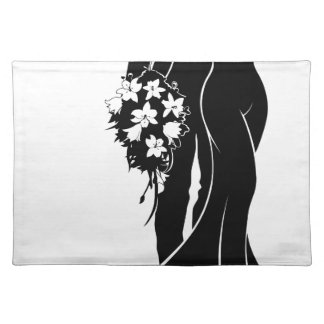 Wedding Bride and Groom Silhouette Placemat