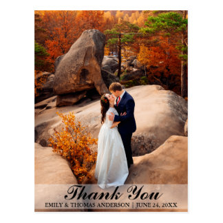 Wedding Bride and Groom Thank You Photo Postcard B