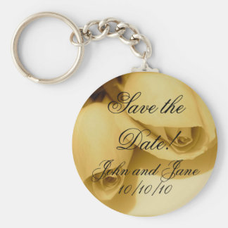 Wedding Bride Groom Names & Date Keychain