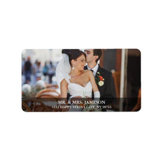 Wedding Bride & Groom Photo Address Labels B