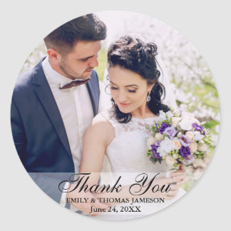 Wedding Bride Groom Photo Thank You Stickers Rd