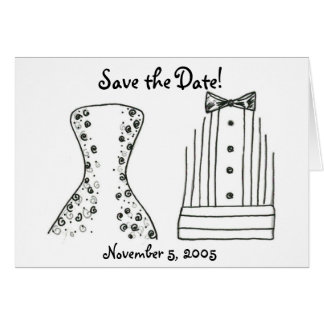 Wedding, Bride, Groom, Save the Date Card