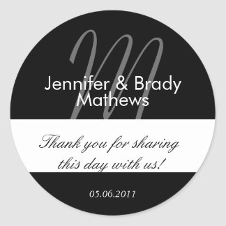 Wedding Bride & Groom Thank You Favor Sticker
