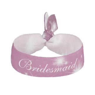 Wedding Bridesmaid Favor Winter Sparkle Pink Hair Tie