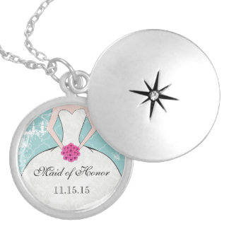 Wedding Bridesmaid Keepsake Thank You Necklace