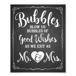 Wedding bubble sign wedding poster photo