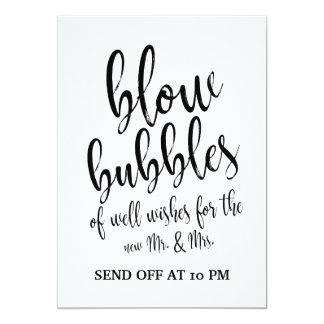 Wedding Bubbles Send Off Affordable Sign Card