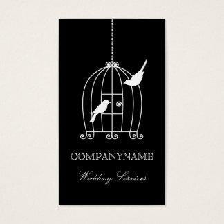 Wedding business card template Bird Cage