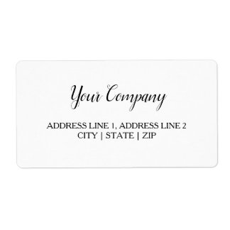 Wedding, Business Shipping Label