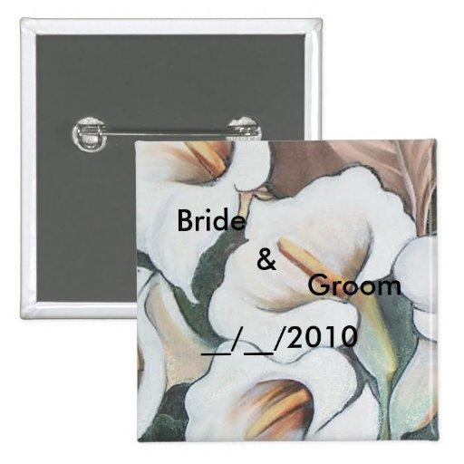 wedding butoon pinback buttons