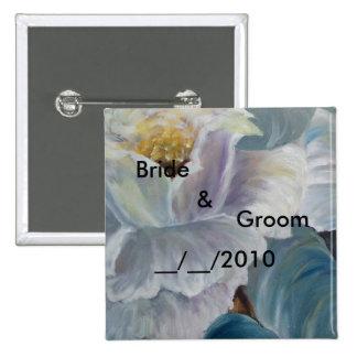 wedding butoon pinback button