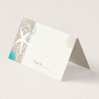 Wedding By The Shore Place Card