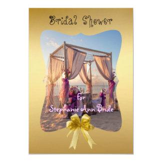 "Wedding Cabana On The Beach Bridal Shower Card 5"" X 7"" Invitation Card"