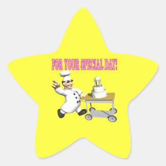 Wedding Cake 6 Star Sticker