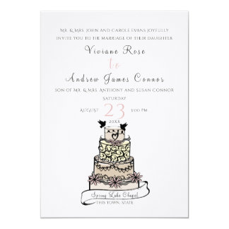 Wedding Cake and Banner Card