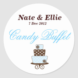 Wedding Cake Candy Buffet Sticker