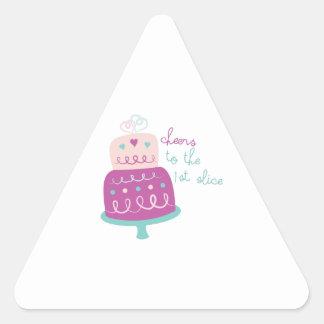 Wedding Cake Cheers Triangle Sticker