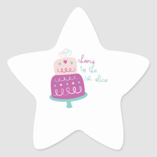 Wedding Cake Cheers Star Stickers