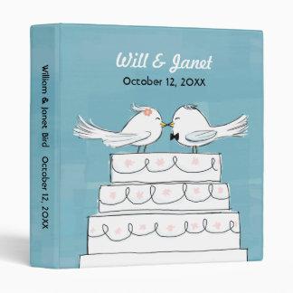 Wedding Cake Love Birds - Bride & Groom Kiss Vinyl Binders