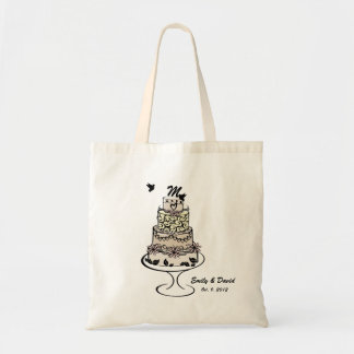 Wedding Cake Monogram Tote Bag