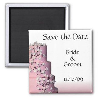 Wedding Cake Save the Date Magnets