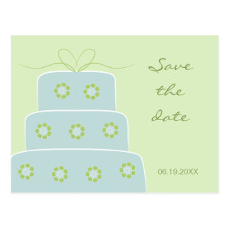 Wedding Cake Save the Date Postcard