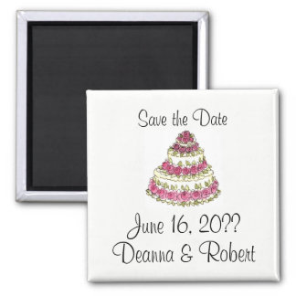 Wedding Cake Square Magnet