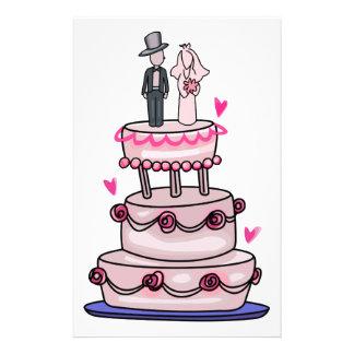 WEDDING CAKE CUSTOMIZED STATIONERY