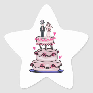 WEDDING CAKE STAR STICKERS