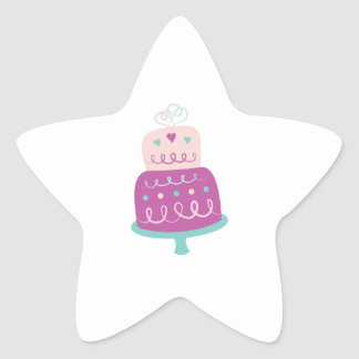 Wedding Cake Star Sticker