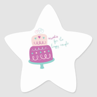 Wedding Cake Sweets For Happy Couple Star Sticker