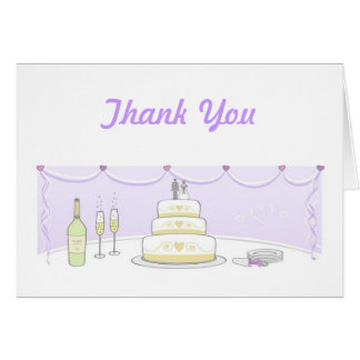 Wedding Cake Thank You Cards