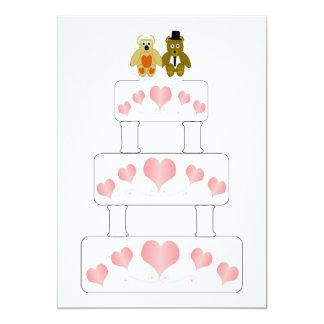 Wedding Cake Wedding Reception Card