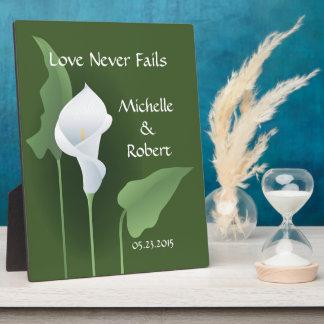 Wedding Calla Lily Green Custom Plaque