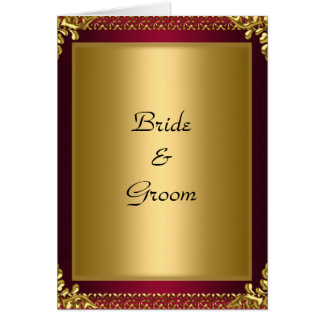 Wedding Card Invitation Gold red